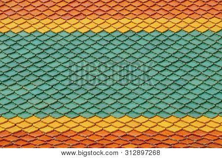 Colorful roof tiles in Thailand