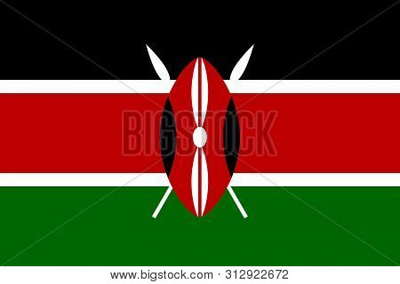 Flag Of Kenya .kenya Vector Flag. National Symbol Of Kenya