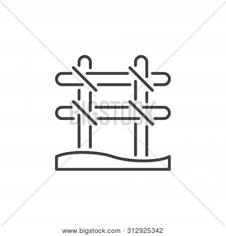 Rebar Binding Vector Concept Icon Or Symbol In Thin Line Style