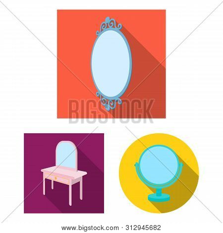 Isolated Object Of And Imagery Icon. Collection Of And Reflection Bitmap Icon For Stock.