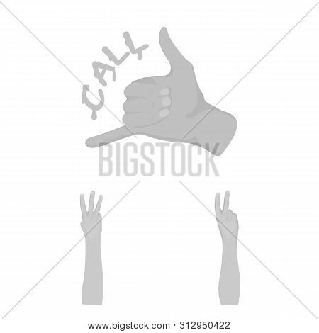 Bitmap Design Of Animated And Thumb Icon. Collection Of Animated And Gesture Bitmap Icon For Stock.