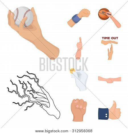 Bitmap Design Of Animated And Thumb Icon. Set Of Animated And Gesture Stock Bitmap Illustration.