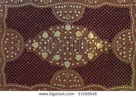 Ornamental Wooden Background