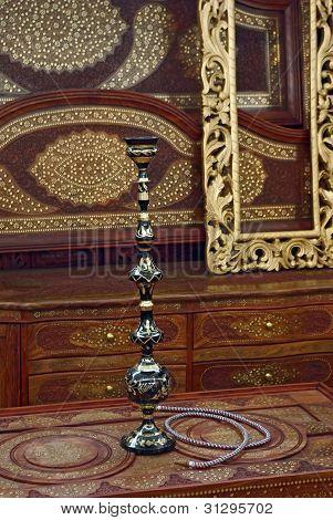 Hookah In A Beautiful Wooden Room