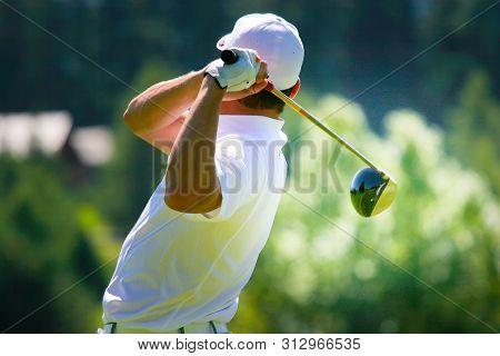 Man Golfer On A Golf Course