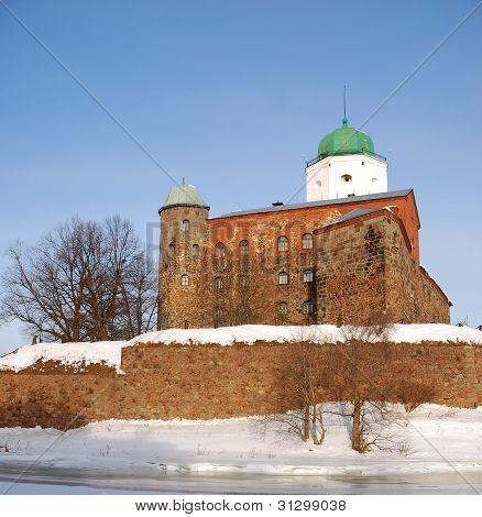 Vyborg castle in winter. Russia
