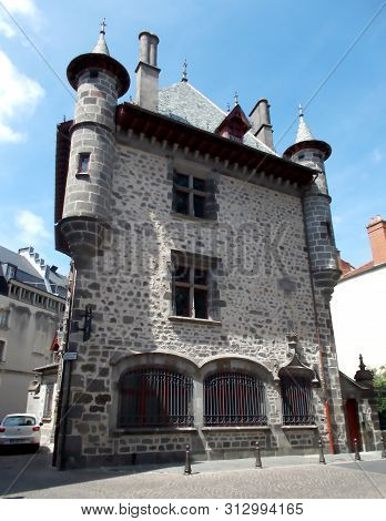 France Cantal: Old House In The Historic Center Of Aurillac