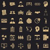Conformity in work icons set. Simple style of 36 conformity in work icons for web for any design poster