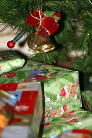 Presents Under Christmas Tree Ornaments