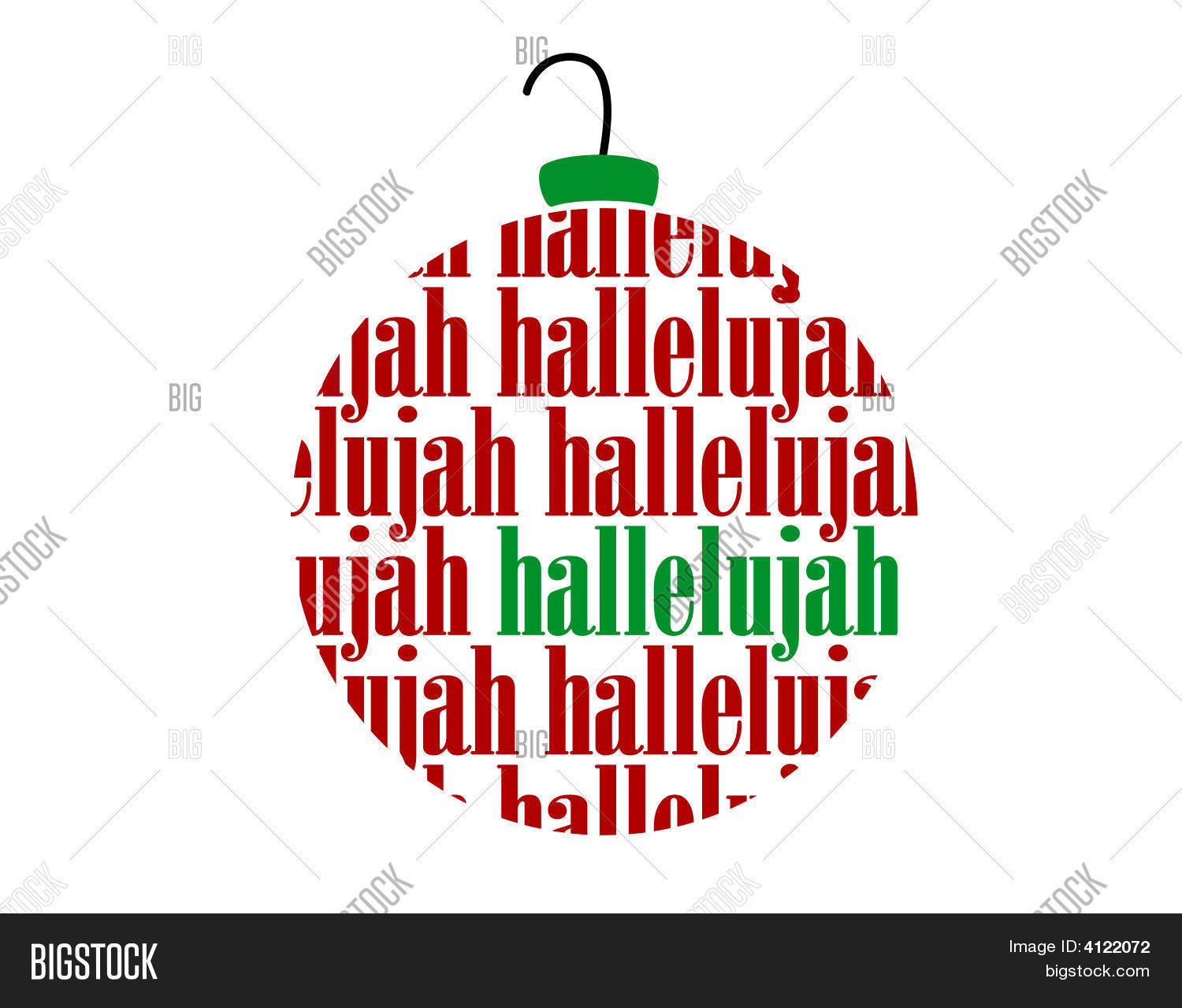 Christmas Hallelujah.Hallelujah Text Word Vector Photo Free Trial Bigstock