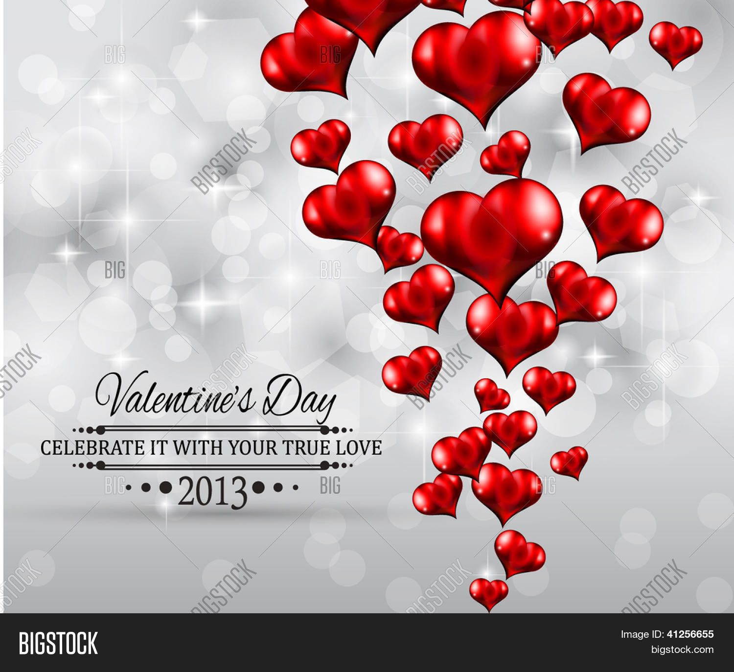 Valentine\'s Day Party Invitation Vector & Photo | Bigstock