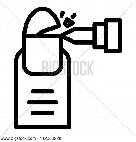 Grind Manicure Icon. Outline Grind Manicure Vector Icon For Web Design Isolated On White Background