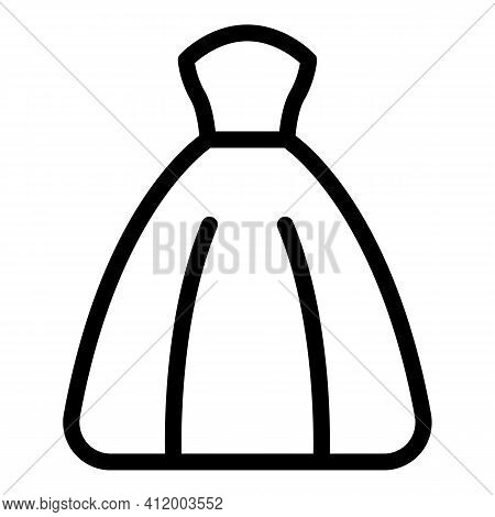 Bride Wedding Dress Icon. Outline Bride Wedding Dress Vector Icon For Web Design Isolated On White B