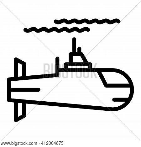 Submarine Cargo Icon. Outline Submarine Cargo Vector Icon For Web Design Isolated On White Backgroun