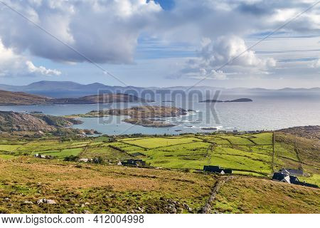Landscape With Ocean Shore From Ring Of Kerry, Ireland