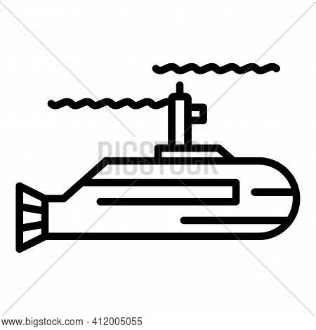 Force Submarine Icon. Outline Force Submarine Vector Icon For Web Design Isolated On White Backgroun