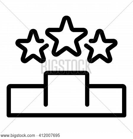 Star Career Icon. Outline Star Career Vector Icon For Web Design Isolated On White Background