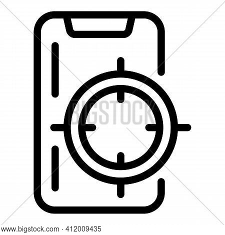 Target Audience Icon. Outline Target Audience Vector Icon For Web Design Isolated On White Backgroun