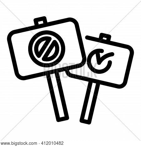 Democracy Protest Icon. Outline Democracy Protest Vector Icon For Web Design Isolated On White Backg