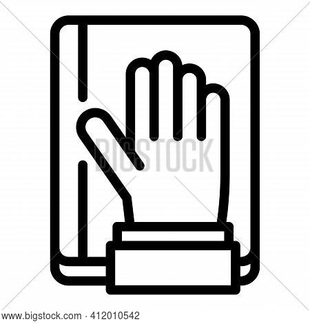 Democracy Hand Up Icon. Outline Democracy Hand Up Vector Icon For Web Design Isolated On White Backg