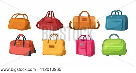 Travel Luggage, Plastic Case, Metal Backpacks And Leather Bag. Travel Suitcase With Wheels, Journey