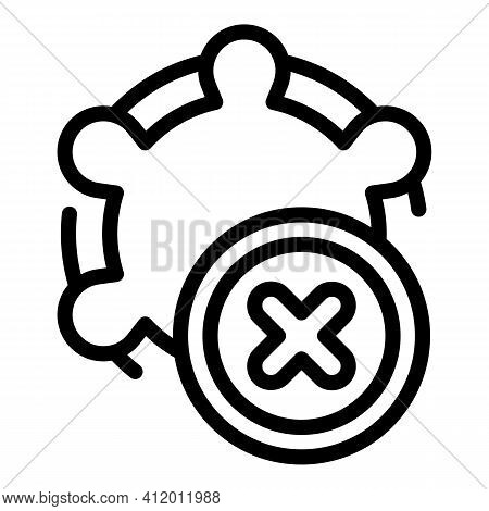 Antibiotic Resistance Icon. Outline Antibiotic Resistance Vector Icon For Web Design Isolated On Whi