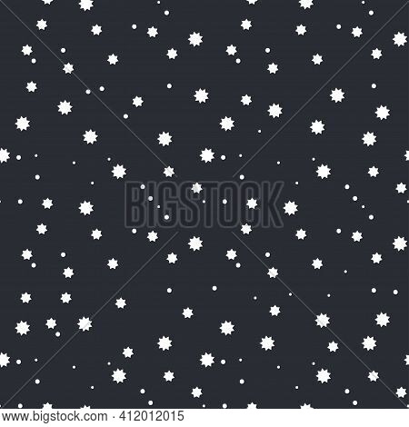 Star Dark Background. Astronomy Graphic Abstract Seamless Pattern. Sky Starry Illustration Galaxy Te