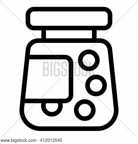 Antibiotic Bottle Icon. Outline Antibiotic Bottle Vector Icon For Web Design Isolated On White Backg