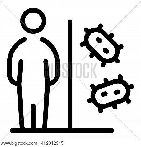 Antiviral Resistance Icon. Outline Antiviral Resistance Vector Icon For Web Design Isolated On White