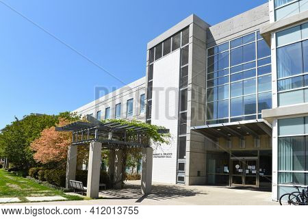 IRVINE, CALIFORNIA - 22 APRIL 2020:  The Robert R. Sprague Foundation on the Campus of the University of California Irvine, houses the Cancer Research Institute, (CRI).