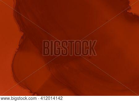Blood Splatter. Watercolor Valentine Background. Grunge Horror Texture. Splat Of Maroon Stain. Blood
