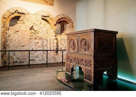Gothic And Renaissance Furniture, Castle Interior In Hohensalzburg Fortress Museum, Twelfth-century