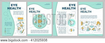 Eye Health Brochure Template. Maintaining Good Vision And Healthy Eyes. Flyer, Booklet, Leaflet Prin