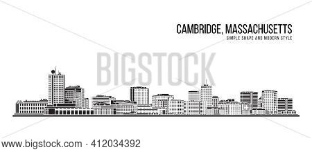 Cityscape Building Abstract Simple Shape And Modern Style Art Vector Design -  Cambridge City, Massa