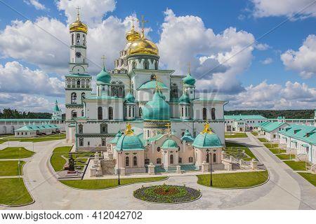 Restored Novo-jerusalem Christian Monastery Istra Russia Stock Photography