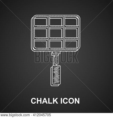 White Barbecue Steel Grid Icon Isolated On Crumpled Paper Background. Top View Of Bbq Grill. Wire Ra