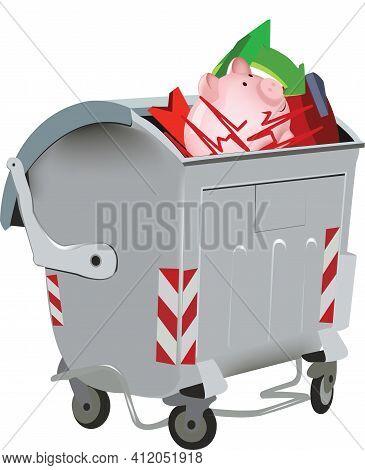 Garbage Dumpster X Containing Symbols Garbage Dumpster X Containing Symbols
