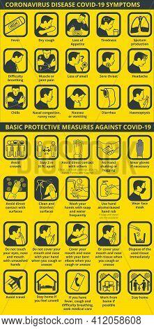 Coronavirus Disease Covid-19 Symptoms And Basic Protective Measures Covid-19