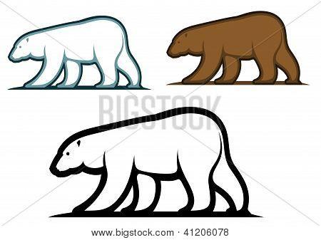 Bear mascots in cartoon style