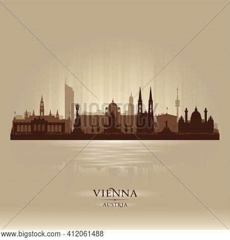Vienna Austria City Skyline Vector Silhouette