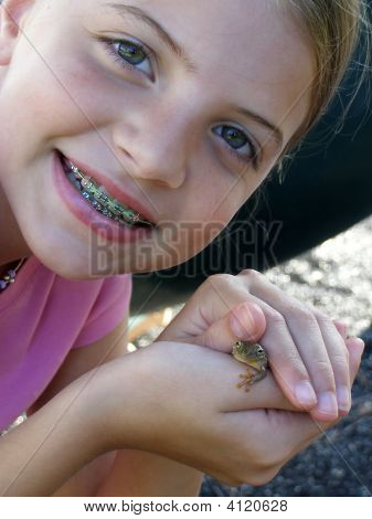 Girl With Frog