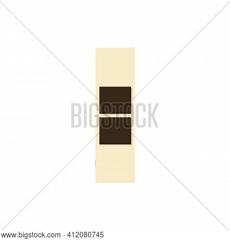 Army Rank Of Chef Warrant Officer Military Stripe Isolated Sign. Vector Marine Corps, Us. Navy And C