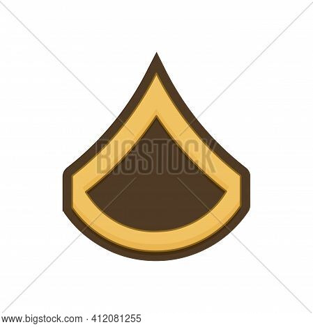 Private First Class Pfc Army Rank Soldier Insignia Isolated Icon. Vector United States Armed Forces