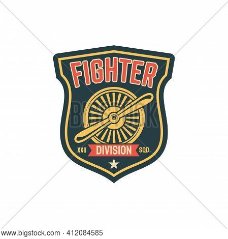 Aviation Military Division Squad, Army Chevron Insignia Of Airplane Fighter Propelled Jet Emblem Iso