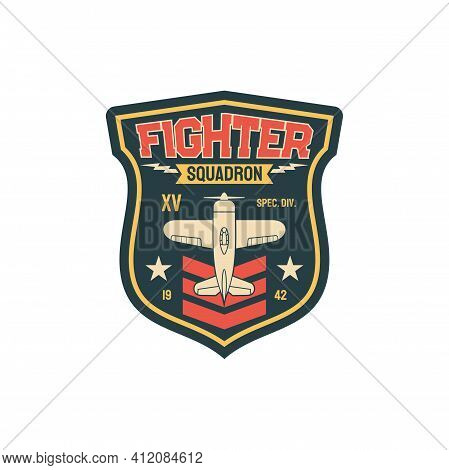 Squadron Fleet Air Navy, Aviation Squad Army Chevron Insignia Of Airplane Jet Fighter Isolated Patch