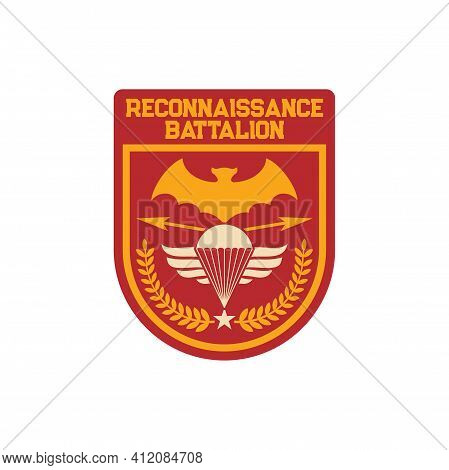 Reconnaissance Battalion United States Marine Corps1st Recon Bn Patch On Military Cloth Isolated. 1s