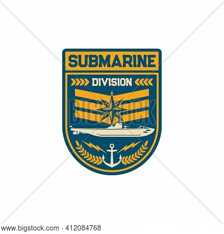 Submarine Division Special Squad Navy Marine Maritime Forces Isolated Patch On Military Officer Unif