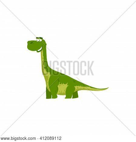 Brontosaurus Yahnahpin Isolated Smiling Bronosaurus Kids Toy. Vector Brontosaurus Parvus, Big Thunde