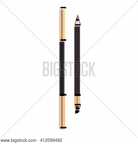 Eyeliner Silhouette. Makeup Accessory. Vector Illustration. Applicator