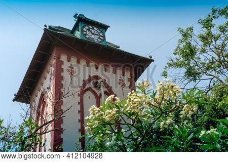 Howrah,west Bengal,india- 22nd April 2019 : Historical Clock Tower Of Indian Institute Of Engineerin